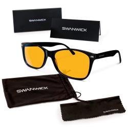 Swanwick Sleep Swannies Blue Light Blocking Glasses - Gamer And Computer Eyewear For Deep Sleep And Digital Eye Strain Preventio