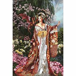 Diy 5D Diamond Painting By Number Kits Ancient Princess Dinosaur Adult And Kids Crystal Rhinestone Diamond Embroidery Pictures Cross Stitch Full Drill Arts Craft