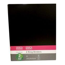 SIMPLE CHOICE - A4 Ringbinder 2PC Black
