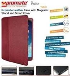 Promate Veil-air Ultra Slim Protective With Stand Function For Ipad Air Red Retail Box 1 Year Warranty