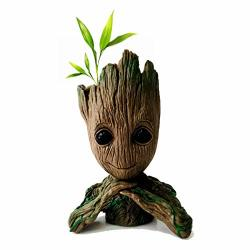 Wingteng 6.3 Treeman Baby Groot Flowerpot Flower Pot Planter Action Figures Guardians Of The Galaxy Toy Tree Man Cute Model Toy Pen Pot