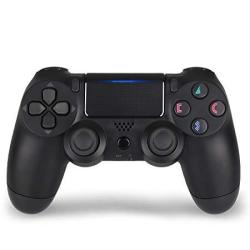 A&O PS4 Controller Dualshock 4 Wireless Controller Remote For Sony Playstation 4 With Chargiing Cable Jet Black New Model