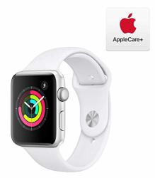 Apple Watch Series 3 Gps 42MM - Silver Aluminum Case With White Sport Band With Applecare+ Bundle