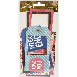 American Crafts Pebbles Happy Day Tag Frames