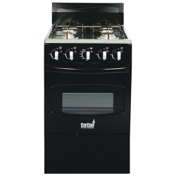 Totai 4 Burner Gas Stove + Oven with FFD in Black