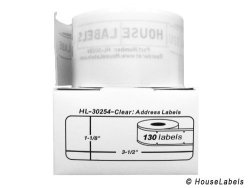 "16 Rolls 130 Labels Per Roll Of Dymo-compatible 30254 Lightly Frosted Address Labels 1-1 8"" X 3-1 2"" - Bpa Free"