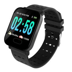 Bakeey M20 1.3' Big Screen Real Time Hr Blood Oxygen Pressure Monitor Long Standby Sport Smart Watch - Black