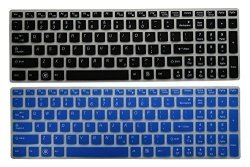 AutoLive Tm 2-PACK Translucent Keyboard Cover Skin Protector For Lenovo Ideapad G50 Y50 Z50 Z500 Z500A G500 G500S P500 G505 G505