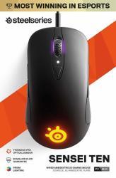 SteelSeries - Sensei Ten - Gaming Mouse - 18 000 Cpi Truemove Pro Optical Sensor - Ambidextrous Design - 8 Programmable Buttons