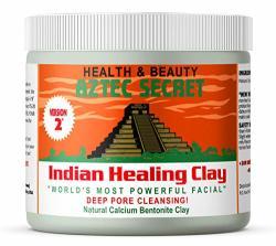 Aztec Secret - Indian Healing Clay 1 Lb - Deep Pore Cleansing Facial & Body Mask - The Original 100% Natural Calcium Bentonite Clay - New Version 2