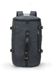 Tosca Canvas Duffle Backpack With 15 Inch Laptop Compartment - Black ... a3578001954