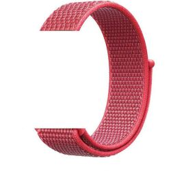 Nylon Loop Sports Strap For Apple Watch - Coral Pink 38MM Or 40MM