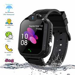 Kids Smartwatch Enow IP67 Waterproof Lbs Position Smart Phone Watch With Sos Two Way Call Game Watch Camera Alarm For Boys And Girls Birthday