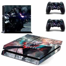 PS4 Vinyl Skin Devil May Cry 5 HD Printing Whole Body Sticker Decal Cover For Playstation 4 Console And 2 PS4 Controller By Mr