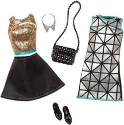 Barbie Fashion 2 Pack Glamour - Gold Turquoise & Black