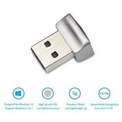 USB Fingerprint Key Reader For Windows 10 Hello - Security Key Biometric Scanner Sensor Dongle Module For Instant Acess Password