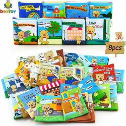 Beetoy 8 Themes Soft Baby Books Mr. Bear Story Cloth Books