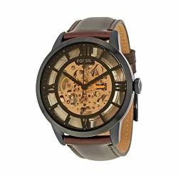 Deals on Men's Fossil ME3098 Analog Display Automatic Self Wind Brown Watch  | Compare Prices & Shop Online | PriceCheck