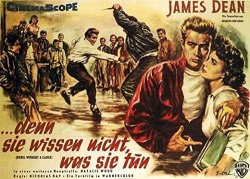 Pop Culture Graphics Rebel Without A Cause Poster Movie German D 11 X 17 Inches - 28CM X 44CM James Dean Natalie Wood Sal Mineo Jim Backus