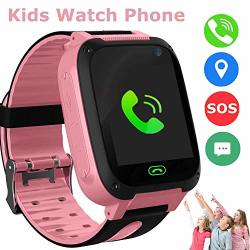 SZBXD Kids Smart Watches Phone Gps Tracker Touch Screen Flashlight Sos Camera Clock Voice Chat Smartwatch - Boys Girls Christmas Birthday Gift Pink
