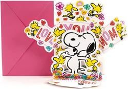 Hallmark Mother's Day Pop Up Card With Song From Son Or Daughter Peanuts Snoopy And Woodstock Pop Up Plays Linus And Lucy By Vince Guaraldi