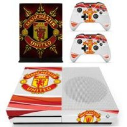 SKIN-NIT Decal Skin For Xbox One S: Manchester United Red + White