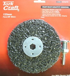 Tork Craft Face Off Disc And Arbor 125mm Carded For Drill