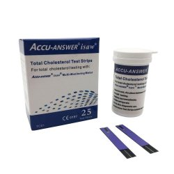 Accu-Answer 25 Isaw Total Cholesterol Blood Test Strips | R499 00 | Health  Aids | PriceCheck SA