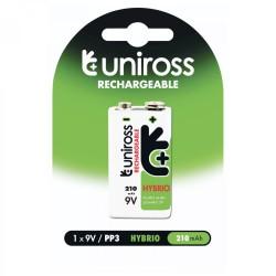 Uniross 9volts Recharge Battery