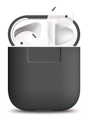 Ambertown Silicone Shock Proof Protective Case Sleeve Skin Cover With A Box For Airpods Air Pods Wireless Headphone Charging Box Earl Gray