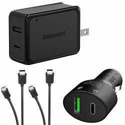 Turbo Quick Wall And Car Charger Kit For Huawei Y3 2 With Microusb & USB Type-c Cables 33WATTS