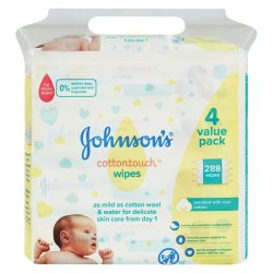 Johnsons - Cotton Touch Wipes 288'S