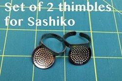 Nihon Chuko A Set Of 2 Sashiko Round-shape Thimble