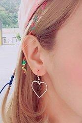 Generic Mr._olara_otunnu_king_soft _sister_exposed_heart-shaped_love_ Earrings Earring Eardrop Ear Fall