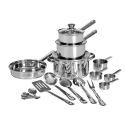 Mainstays 20 Pce Stainless Steel Pot Set