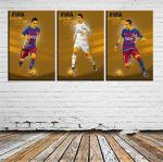 Zzjart HD Printed Oil Paintings Home Wall Decor Art On Canvas Fifa Ballon D'or 3PCS 312 Unframed 16X24X3INCH