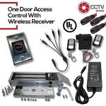 CCTVOnSales Cctvon S One Door Access Control For 300LBS 600LBS & 1200LBS Electromagnetic Lock With Wireless Receiver Two Remotes