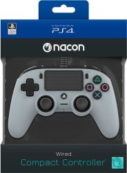 - Wired Compact Controller - Grey PS4