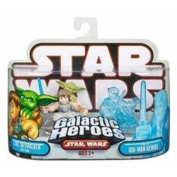 Hasbro Star Wars Galactic Heroes MINI Figure 2-PACK Luke Skywalker With Yoda & Obi-wan Kenobi Spirit