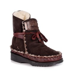 56bf8a4dc790 Deals on Gurmuki Sheep's Wool Leather Boots - Chocolate | Compare ...