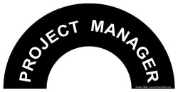 Project Manager Label Decal 4.5X2.25 In. Vinyl 2-PACK For Hard Hat helmet Labels By Compliancesigns