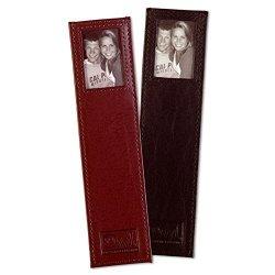 OWL Leather Bookmark 2 Pak Brown + Black Double Window