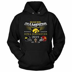 Iowa Holiday Bowl Champions Hawkeyes 2019 - Winning-team Jersey Football Costume Hoodie Hoodies Black-xl