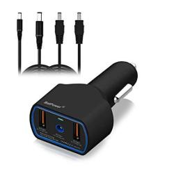 Batpower CCD2 Ul Listed 120W 90W Laptop Car Charger Power Supply Adapter For Dell Inspiron Latitude Xps MINI Precision Studio Vostro Notebook USB QC3.