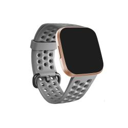 For Fitbit Versa 2 Breathable Silicone Watch Band Gray