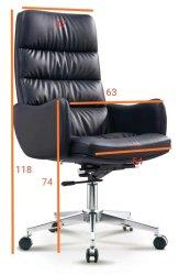 High 6630 Back Swivel & Tilt Office Chair - Black