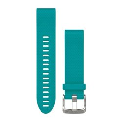 Garmin Quickfit 20mm Silicone Band in Turquoise