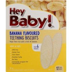 Hey Baby Teething Biscuits Banana 50G
