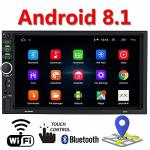 Android 8.1 Universal Double 2DIN Car Gps Stereo 7 Inch HD Car Video Player Touch Screen Radio MP5 Player Bluetooth Car Stereo M