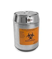 Sp Scienceware Bel-art H13194-1011 Benchtop Biohazard Disposal Can With Motion Sensor Lid 1.5L Capacity Stainless Steel Chrome Lid Polypropylene Liner